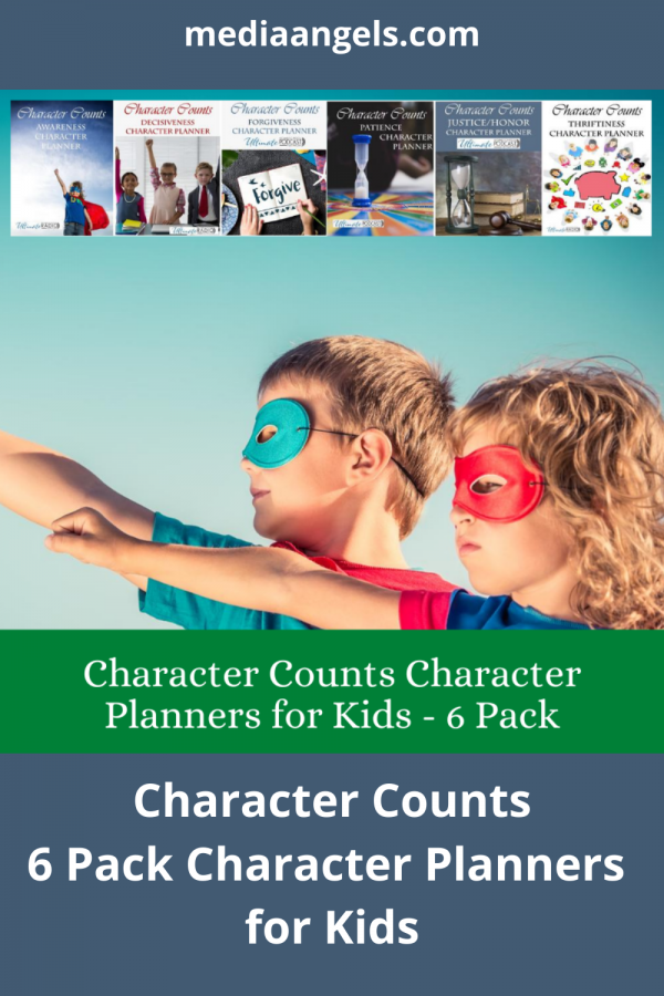 Character Counts Character Planners ~ Patience, Justice/Honor, Thriftiness, Awareness, Decisiveness, and Forgiveness - SIX Character Planner For Kids. Open. Print. Go! Character is important at any age. Your children will enjoy the interactive activities, games and challenges within the pages. There is something for everyone in the family from the young to the old, and mom and dad can participate as well.