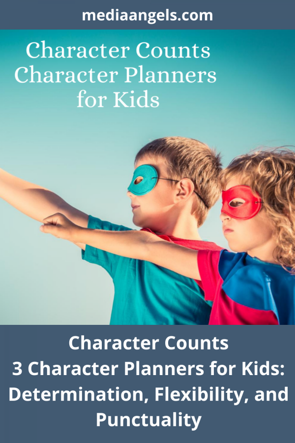 Character Counts ~ Determination, Flexibility, Punctuality - Three Character Planner For Kids. Open. Print. Go! Character is important at any age - this set includes the topics of Determination, Flexibility, and Punctuality. Your children will enjoy the interactive activities, games and challenges within the pages. There is something for everyone in the family from the young to the old, and mom and dad can participate as well. , Determination, Flexibility, Punctuality