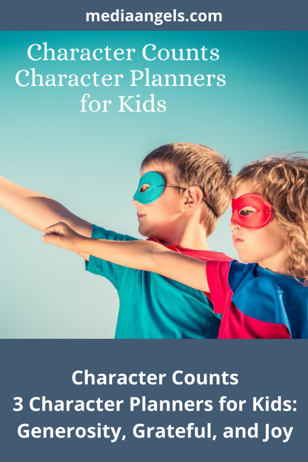 Character Counts ~ Generosity, Grateful, Joy - Three Character Planner For Kids. Open. Print. Go! Character is important at any age - this set includes the topics of Generosity, Grateful, and Joy. Your children will enjoy the interactive activities, games and challenges within the pages. There is something for everyone in the family from the young to the old, and mom and dad can participate as well.