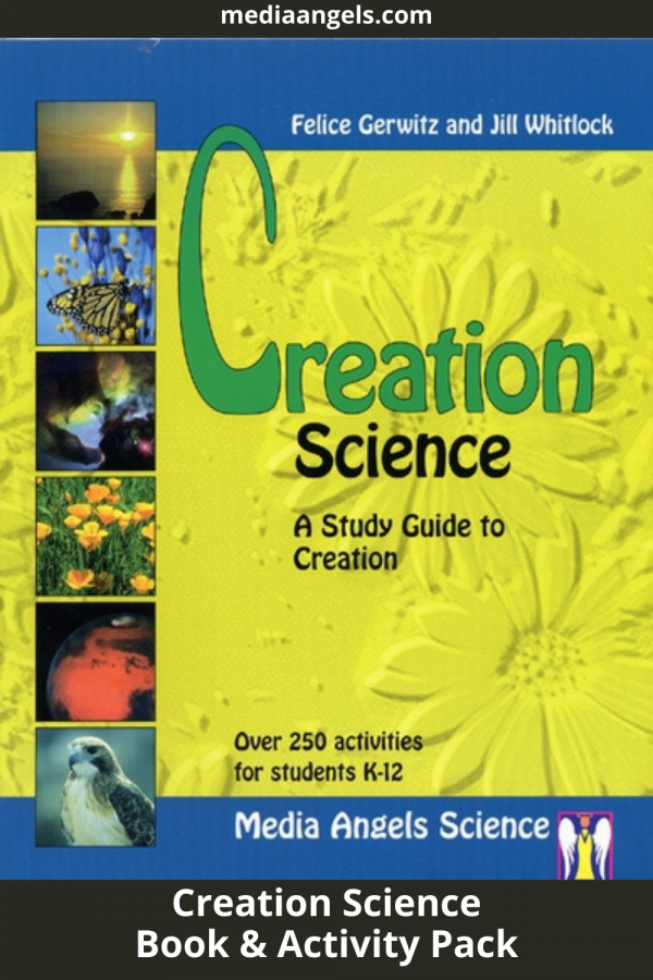 Do you believe that God created all … what about the world? Do you think HE could have created the world as stated in the Book ofGenesis.This book will answer those questions and so much more! This is a study guide that will take you through the Bible as well as the factual information that is demonstrated by science that points to the hands of a Creator God. No boring science here! Great hands-on activities that children love and they'll actually remember what they've learned long after the books are closed. Read great books, demonstrate theories with activities and learn the joy of knowing our universe was created by an amazing God. Completely re-edited with many pages added includinglesson plans!This is written for all grade levels integrating all subjects. This includes outlines, activities, experiments, vocabulary, reading lists, math ideas, book reviews, reproducible sheets,and much more.This features a31pagedetailed teaching outline.  For 4th Grade and Up. Include a PDF Activity Pack Download with purchase.