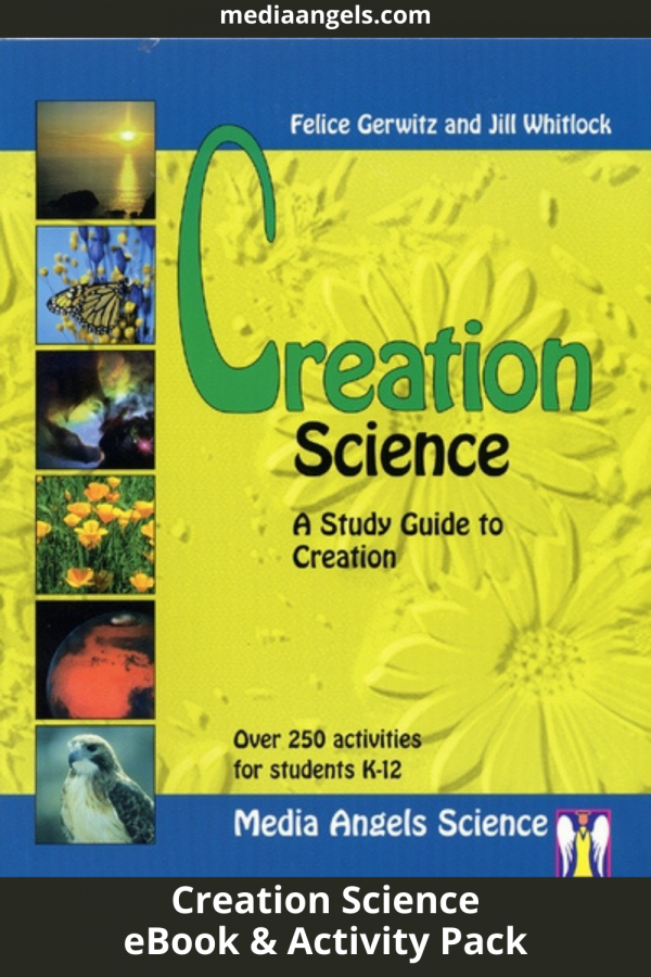 Do you believe that God created all … what about the world? Do you think HE could have created the world as stated in the Book ofGenesis.This book will answer those questions and so much more! This is a study guide that will take you through the Bible as well as the factual information that is demonstrated by science that points to the hands of a Creator God. No boring science here! Great hands-on activities that children love and they'll actually remember what they've learned long after the books are closed. Read great books, demonstrate theories with activities and learn the joy of knowing our universe was created by an amazing God. Completely re-edited with many pages added includinglesson plans!This is written for all grade levels integrating all subjects. This includes outlines, activities, experiments, vocabulary, reading lists, math ideas, book reviews, reproducible sheets,and much more.This features a31pagedetailed teaching outline.  For 4th Grade and Up.